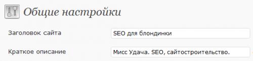 Как настроить имя сайта в Вордпресс